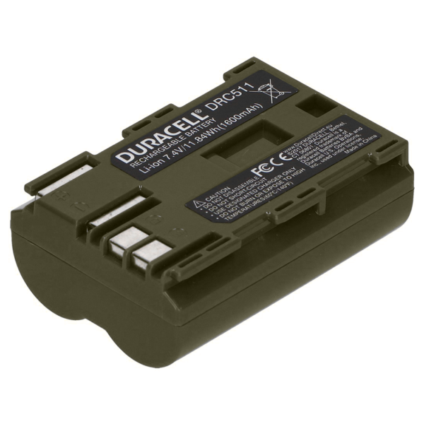 Replacement Canon BP-511 Battery Back View
