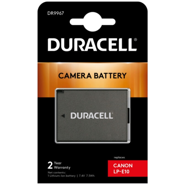 Replacement Canon LP-E10 Battery in Packaging