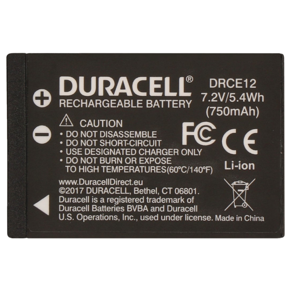 Replacement Canon LP-E12 Battery Back View