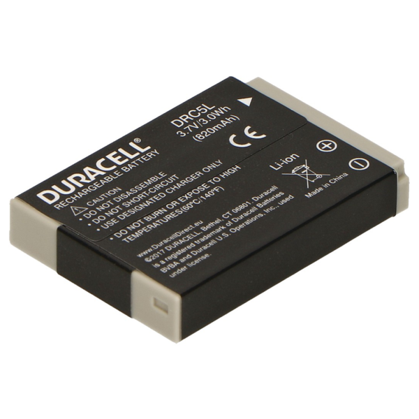 Replacement Canon NB-5L Battery Back View