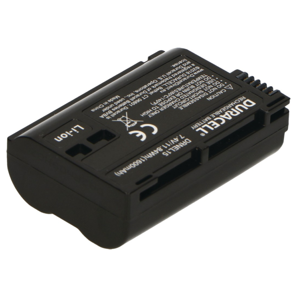 Replacement Nikon EN-EL15B Battery Back View