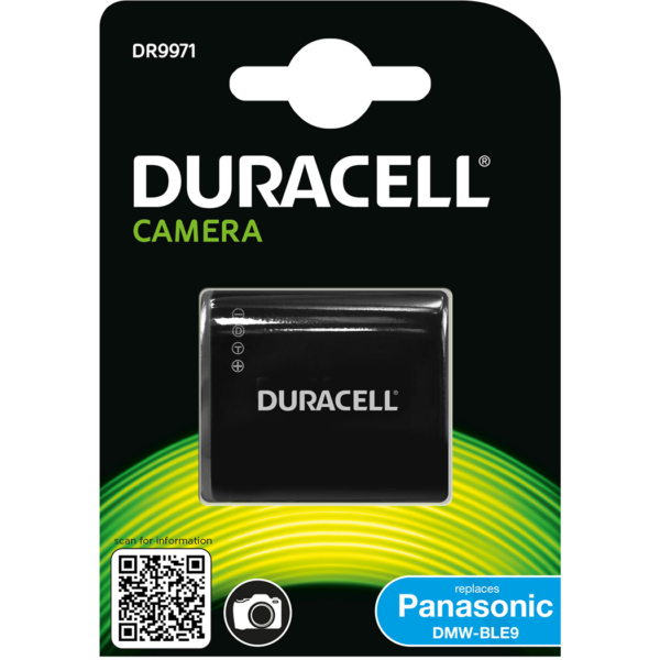 Replacement Panasonic DMW-BLE9 Battery in Packaging