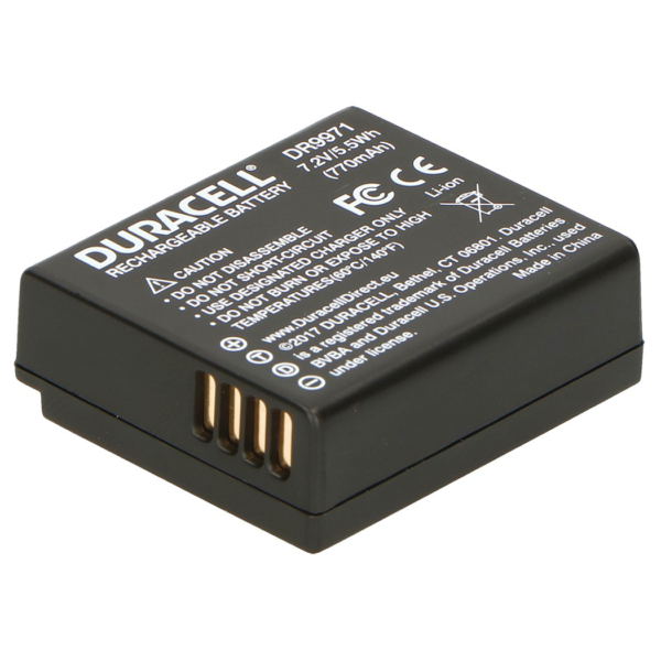 Replacement Panasonic DMW-BLE9 Battery Back View