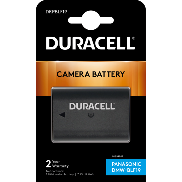 Replacement Panasonic DMW-BLF19E Battery in Packaging