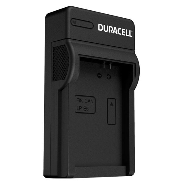 Duracell USB charger for Canon LP-E5 Battery isometric view