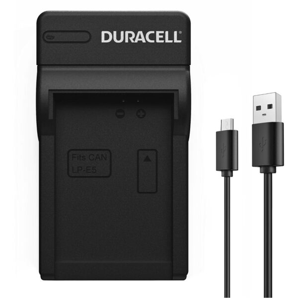 Duracell USB charger for Canon LP-E5 Battery product face