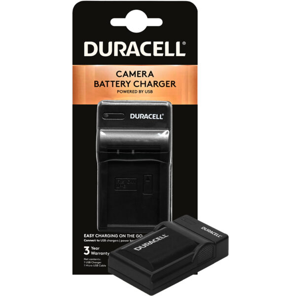 Duracell USB charger for Canon LP-E6 Battery in its packaging