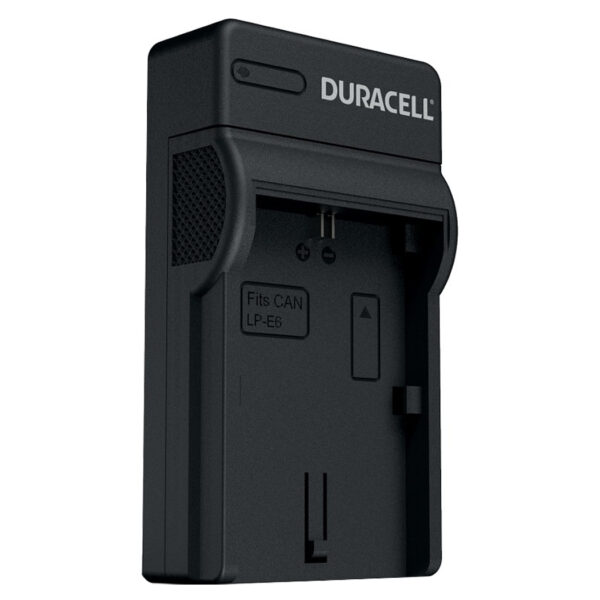 Duracell USB charger for Canon LP-E6 Battery isometric view