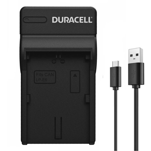 Duracell USB charger for Canon LP-E6 Battery product face