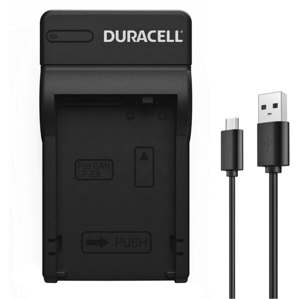 Duracell USB charger for Canon LP-E8 Battery product face