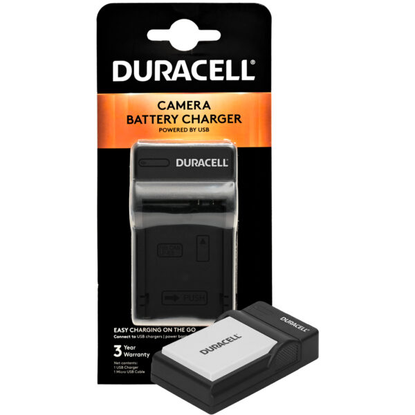 Duracell USB charger for Canon LP-E8 Battery in its packaging