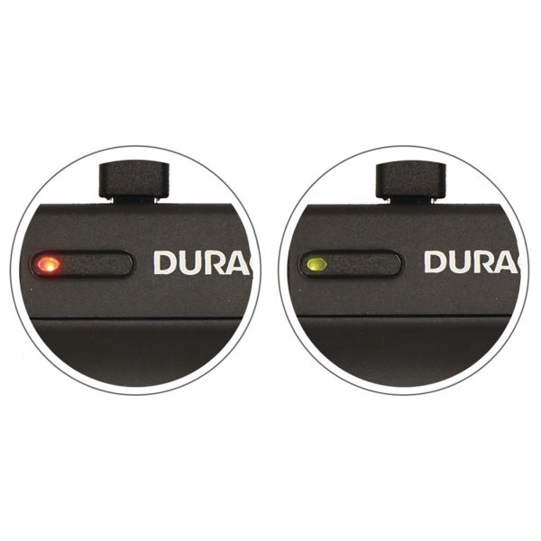Duracell USB charger for Canon NB-6L Battery status lights
