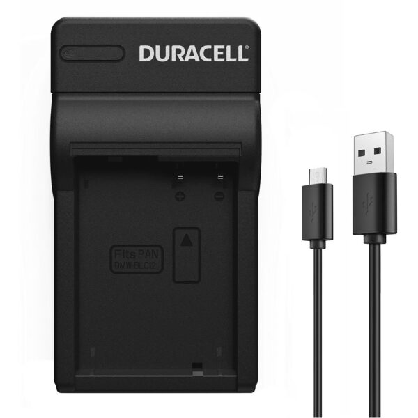 Charger for Panasonic DMW-BLC12 Battery Face View