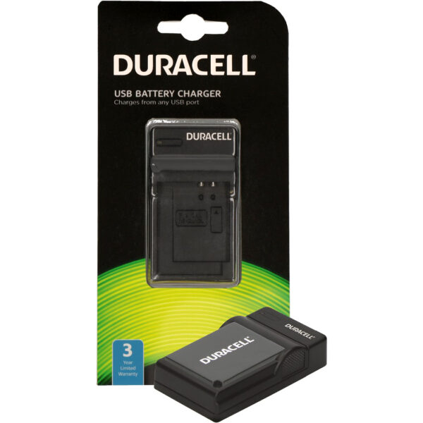Duracell USB charger for Panasonic DMW-BLE9 Battery in its packaging