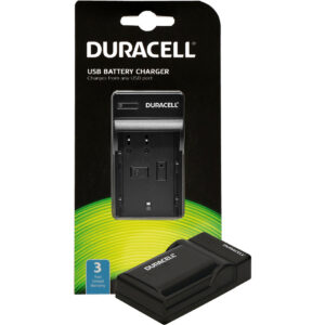 Duracell USB charger for Panasonic  DMW-BLF19 Battery in its packaging