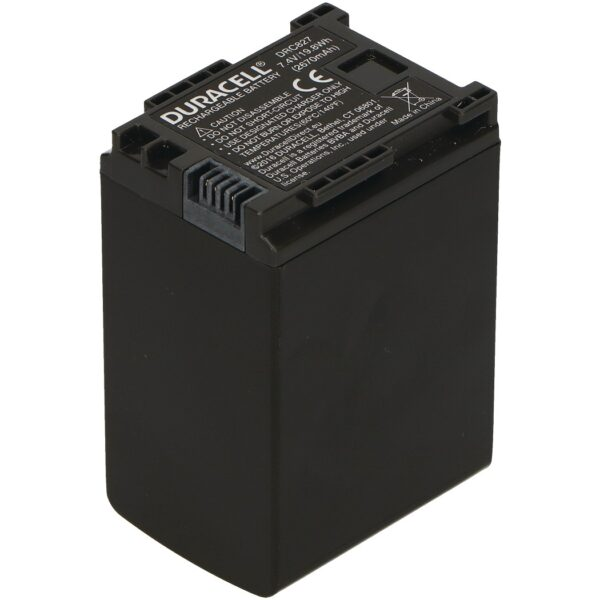 Replacement Canon BP-827 Battery Back View