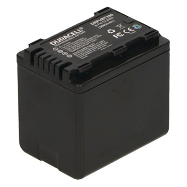 Replacement Panasonic VW-VBT380 Battery Back View