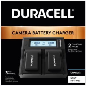 Dual Battery Charger for Sony NP-FW50 Battery in Packaging