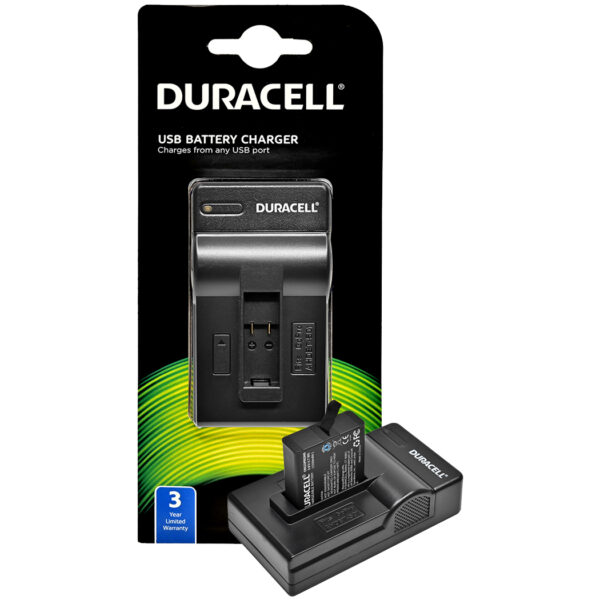 Duracell USB charger for GoPro Hero 5, 6, 7 and 8 Battery in its packaging